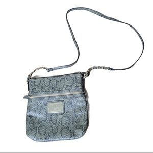 Nicole by Nicole Miller Green Python Crossbody Bag
